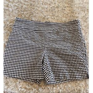 Attyre Black and White Gingham Shorts Size 12